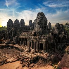 Reposting Climb to the top of Angkor Wat in Cambodia. It's one of the world's largest religious monuments. From the top, you can see evidence of history laid out over the nearly 500 acres it encompasses. Angkor Temple, Angkor Wat, Laos, Philippines, Lac Inle, Universal Studios Theme Park, Meiji Shrine, Railay Beach, Victoria Harbour