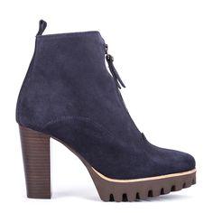 #zapatos #botín #tacón #plataforma de la nueva colección #AW de #pedromiralles en color #azul #shoponline