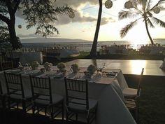 Destination Wedding Set-up // Sugarman's Estate // Maui, Hawaii // photo by: Aloha Events Catering