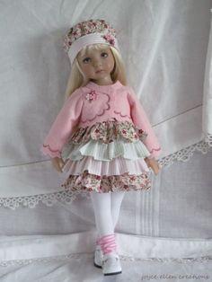 "13"" Effner Little Darling BJD pink fluff dress & Jacket OOAK handmade by JEC"