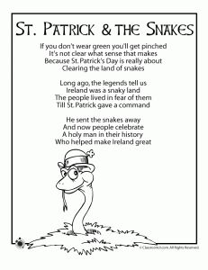 St. Patrick's Day Kids Poems - Pinned by #PediaStaff. Visit http://ht.ly/63sNt for all our pediatric therapy pins