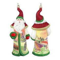 Glitterazzi International Tuscany Santa Ornament