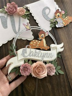 Bambi cake topper One year old cake topper bambi Floral cake 1st Birthday Party For Girls, Happy Birthday Banners, Birthday Party Themes, Birthday Party Decorations, Birthday Photos, Diy Cake Topper, Birthday Cake Toppers, Birthday Cakes, Cupcake Toppers