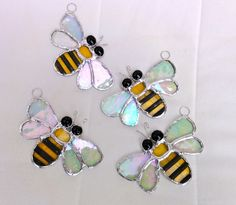 For some reason I love these.  Stained Glass Bee Suncatcher