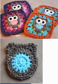 superstuffz: Owl Granny Square Crochet Pattern