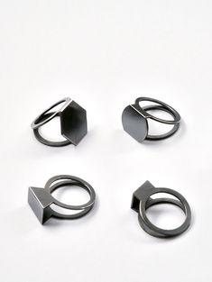 Folded Rings - geometric jewellery design // Christoph Straube