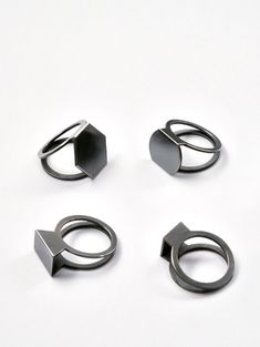 Folded Rings - geometric jewellery design // Christoph Straube