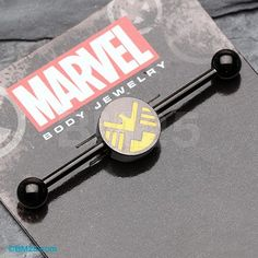 The Agents of S.H.I.E.L.D™ Black Titanium PVD Industrial Barbell
