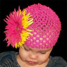 Cute crocheted Baby hat.
