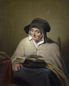 Cornelis Kruseman  (1797-1857)   — Old Woman Reading, 1820 - 1833 (1023x1272)