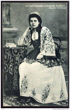 Народна ношња из Косовског вилајета - Serbian girl in folkloric wear from Kosovo