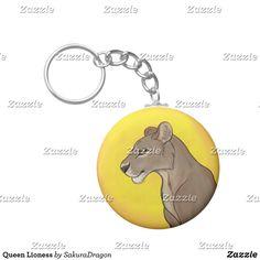Queen Lioness Keychain #lioness #lion #animals #endangered #africa