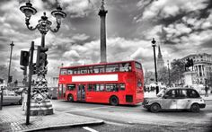 """London black and #white with red bus #large wall art canvas #picture 20"""" x 30"""", View more on the LINK: http://www.zeppy.io/product/gb/2/111713619595/"""