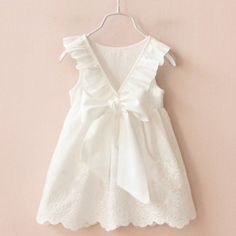 Solid White Cotton Dress – BABY OBSESSIONS
