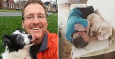 15 papà diventati inseparabili dai loro cani (foto)