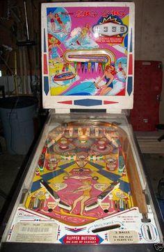 Zig Zag pinball machine made by Williams in 1964 Flipper Pinball, Freddy 3, Pinball Wizard, Vintage Games, Zig Zag, Childhood Memories, Arcade, Wizards, Retro