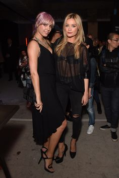 Two real beauties in town: Laura Whitmore and Amber Le Bon.