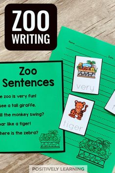 Here's a zoo-themed sentence writing packet perfect for anytime throughout the school year!This packet is designed to help even our most reluctant writers feel successful and excited about writing.