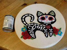 Dia De Los Muertos Kitty - CRAFTSTER CRAFT CHALLENGES