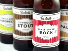 50 waterproof beer labels // perfect for wedding favors or gifts. $65.00, via Etsy.