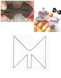 Bow Pattern, Making Hair Bows, Diy Hair Bows, Felt Hair Bows, Hair Bow Tutorial, Hair Clips, Bow Template, Bandeau Crochet, Big Bows