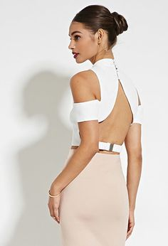 Rise of Dawn Open-Shoulder Crop Top | Forever 21 - 2000185239