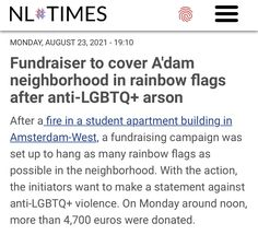 Student Apartment, Rainbow Flag, Stand Up, Fundraising, Amsterdam, The Neighbourhood, Campaign, News, Cover