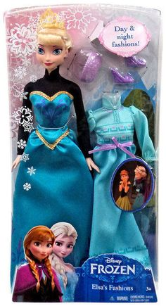 The enchanting tale of Disney's Frozen meets dress-up fashion with this special Elsa doll! Swap her beautiful ball gown with a comfortable nightgown when its time to sleep. Have fashionable fun with Elsa from Disney's Frozen! | eBay!