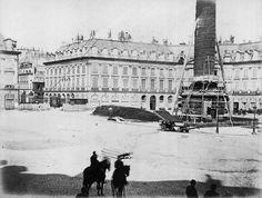 Bruno Braquehais - La commune de Paris - 1871 - Démolitoin de la colonne Vendôme