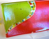 Fused Glass Plate #glass #plate #fused