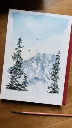 Watercolor Painting Techniques, Painting & Drawing, Watercolor Paintings, Easy Watercolor, Watercolor Trees, Tattoo Watercolor, Watercolor Animals, Watercolor Background, Abstract Watercolor