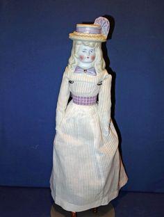 Pretty Bonnet Head Doll with molded collar