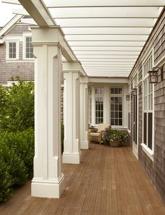 Nantucket House porch, white columns