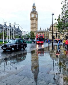 A wet London day
