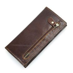 Leather Coin Pocket & Credit Card Holder Wallet with RFID Blocking Technology