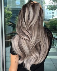 50 stunning ice beige hair color blend for in 2019 Ombre Hair, Balayage Hair, Wavy Hair, Blonde Bayalage, Black Balayage, Pixie Hair, Pastel Hair, Beige Hair Color, Hot Hair Colors