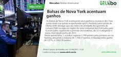 Bolsas de Nova York acentuam ganhos. http://conv.ly/11r