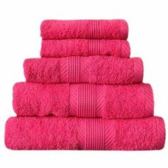 """Catherine Lansfield """"Home"""" Handtuch-Set CL Home - 10-tlg. - 100 % Baumwolle - 450 g/m² - Pink"""