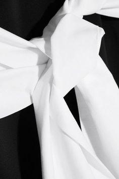 MM6 Maison Margiela - Cotton Poplin-paneled Stretch-crepe Top - Black -