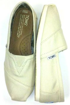 Classic Natural Canvas Slip-on.
