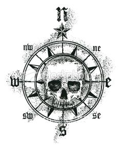 To stick with the skull theme and the compass theme i like.