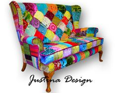 Patchwork Parker Knoll sofa in Designers Guild by JustinaDesign, £799.00