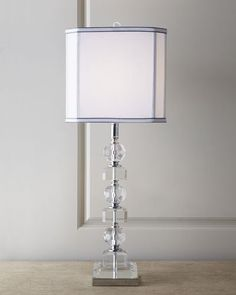 H4ZK1 Stacked Crystals Table Lamp