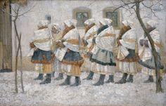 File:Joža Uprka – Úvodnice z Velké. Romanticism, Impressionist, Nativity, Art Nouveau, Fine Art, Costumes, Gallery, Inspiration, Paintings