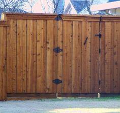 Fence Wood Privacy Fence, Fence Stain, Garden Gates, Fence Gates, Fencing, Pool Fence, Gate Design, Cabana, Shelter
