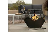 Buy Asda Geo 12 Fire Bowl & Log Burner from our BBQs & Heating range today from George at ASDA. Stone Fireplace Mantel, Stacked Stone Fireplaces, Fireplace Ideas, Outside Furniture, Home Furniture, Large Fire Pit, Wood Burning Fire Pit, Patio Heater, Fire Bowls