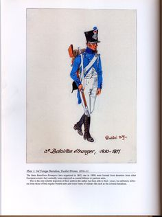 Foreign Troops: Plate 1: 3rd Foreign Battalion, Fusilier Private, 1810-11.