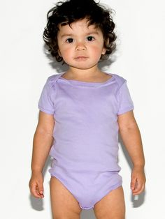 Infant Baby Rib Short Sleeve One-Piece   Babies   Kids & Babies' One-Pieces   American Apparel