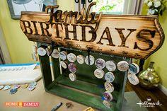 DIY Birthday Celebration Calendar | Paige Hemmis
