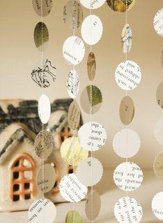 Baby Shower Decorations, Beatrix Potter Paper Garlands, Set of 3. $6.00, via Etsy.
